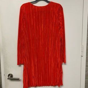 H&M long sleeve red mini dress